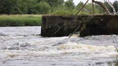 River Rapids Fast Stirling city Stock Footage