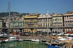 Genoa's Old Port - stock photo