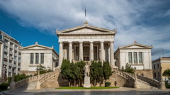 National Library of Greece - Athens, Greece - stock footage