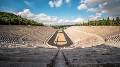 Panathenaic Stadium - Athens, Greece - stock footage