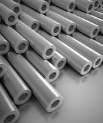 Stock Illustration of Chrome pipe