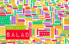 Salad - stock illustration