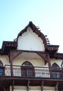 Old balcony in Bitola, Macedonia Stock Photos
