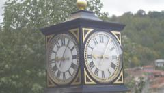 Old clock Old Town retro romance Stock Footage