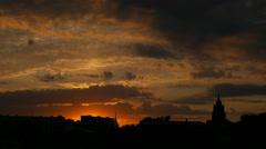 Beautiful sunset / sunrise sky with clouds Stock Footage