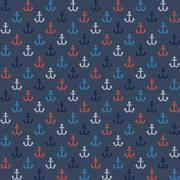 Seamless navy style pattern with colorful anchors - stock illustration