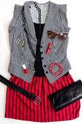 Punk / rock fashion outfit. Kuvituskuvat
