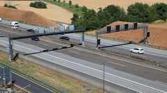 Traffic on the german autobahn A5 - stock footage