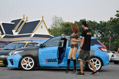 Modifications car show at The 4th Anniversary of Flushstyle Thailand. - stock photo