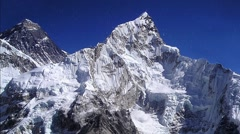 Snow at Everest 01 - stock footage