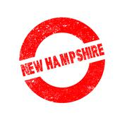 Rubber Ink Stamp New Hampshire - stock illustration