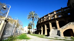 Old arena in Mallorca. Stock Footage