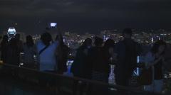 Getting the shot on HK Peak rack focus 4K - stock footage
