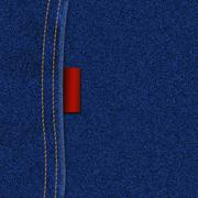 JEANS TEXTURE WITH LABEL - stock illustration