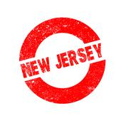 Rubber Ink Stamp New Jersey Stock Illustration