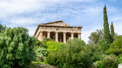 Temple of Hephaestus - Athens, Greece - stock footage