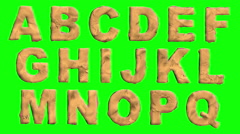 Claymation Font and Background Stock Footage