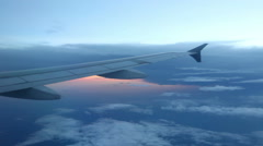 Peaceful View from Plane Window - stock footage