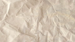 Wrinkled Newsprint Paper Texture Stock Footage