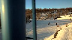 Ski Lift Passing Stock Footage