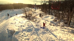 View from the Ski lift at the resort. Stock Footage