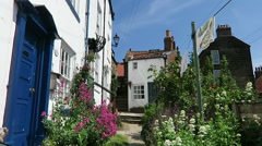 Popular Robin Hood Bay village in North Yorkshire Stock Footage