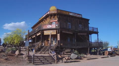 Old West Town Saloon- Apache Junction AZ Stock Footage