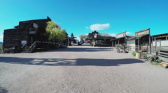 Old West Town Wide Shot- Apache Junction AZ Stock Footage