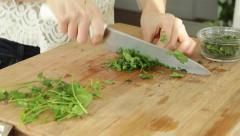 Chef Preparing Organic Vegetarian Food Stock Video - stock footage