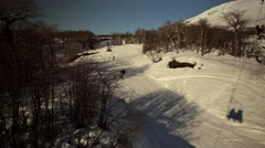 Ski Lift at now close to the volcano. Stock Footage