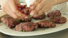 Chef Preparing Organic Vegetarian Burgers Stock Video - stock footage