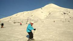 Snowing by the Volcano Stock Footage