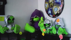 Alien Stuffed Doll Toys In Gift Shop- Roswell New Mexico - stock footage