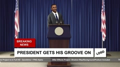 Dancing President - stock after effects