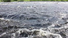 River forth close up river rapids. - stock footage