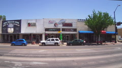 Alien Themed Gift Shops In Downtown Roswell New Mexico Stock Footage