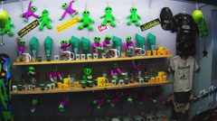 Alien Themed Souvenirs In Gift Shop 1- Roswell New Mexico Stock Footage