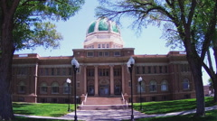 Chaves County Court House Front- Roswell New Mexico Stock Footage