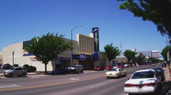 Main Street Business District With UFO Museum Wide- Roswell NM Stock Footage