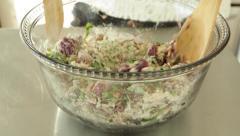 Stock Video Footage of Female Chef Preparing Organic Vegetarian Food Stock Video