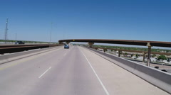 POV Driving Into Lubbock Texas On New Freeway Ramp Stock Footage