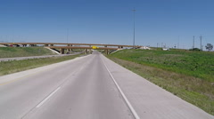 POV Driving Freeway Leaving Lubbock Texas Stock Footage