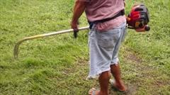 Lawn Mower man Stock Footage
