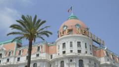 Le Negresco hotel in Nice, France. Stock Footage