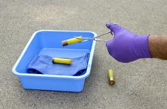 Stock Photo of crime scene investigator
