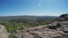 Wide Scenic Vista From Wichita Mountain Peak- Lawton OK Stock Footage