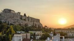 Acropolis Sunrise Stock Footage