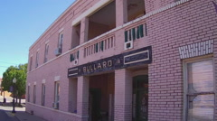 Early 20th Century Brick Apartment Building- Silver City New Mexico Stock Footage