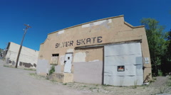 Abandoned Old Time Roller Skating Rink- Silver City NM Stock Footage