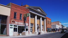 Historic Buildings Silver City New Mexico Main Street Stock Footage